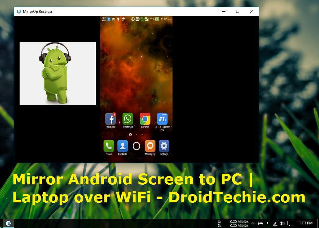Mirror android screen to pc laptop over wifi droidtechie for Mirror your android screen to a pc