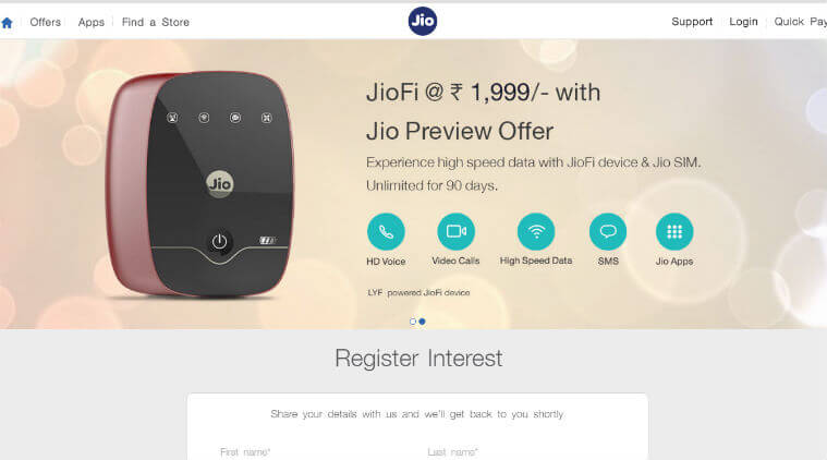 Configure Reliance JioFi Hotspot