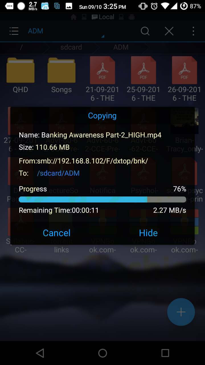 Access Computer Hard Drive upon Android Smartphone