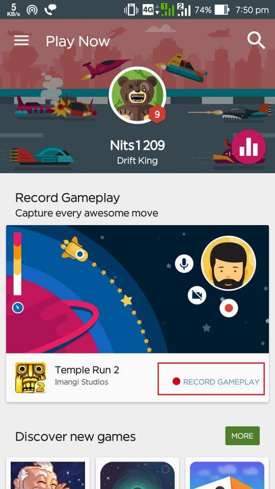 Record GamePlay Android Phone
