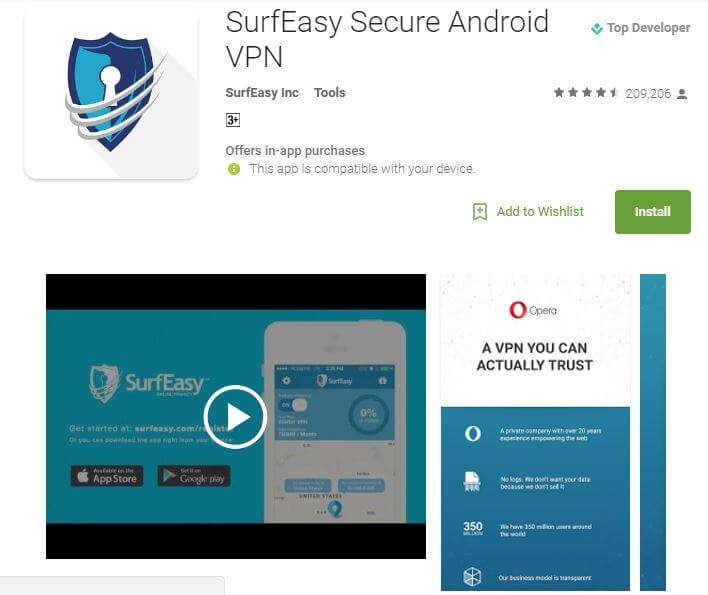 SurfEasy Best Free VPN Apps for Android 2017