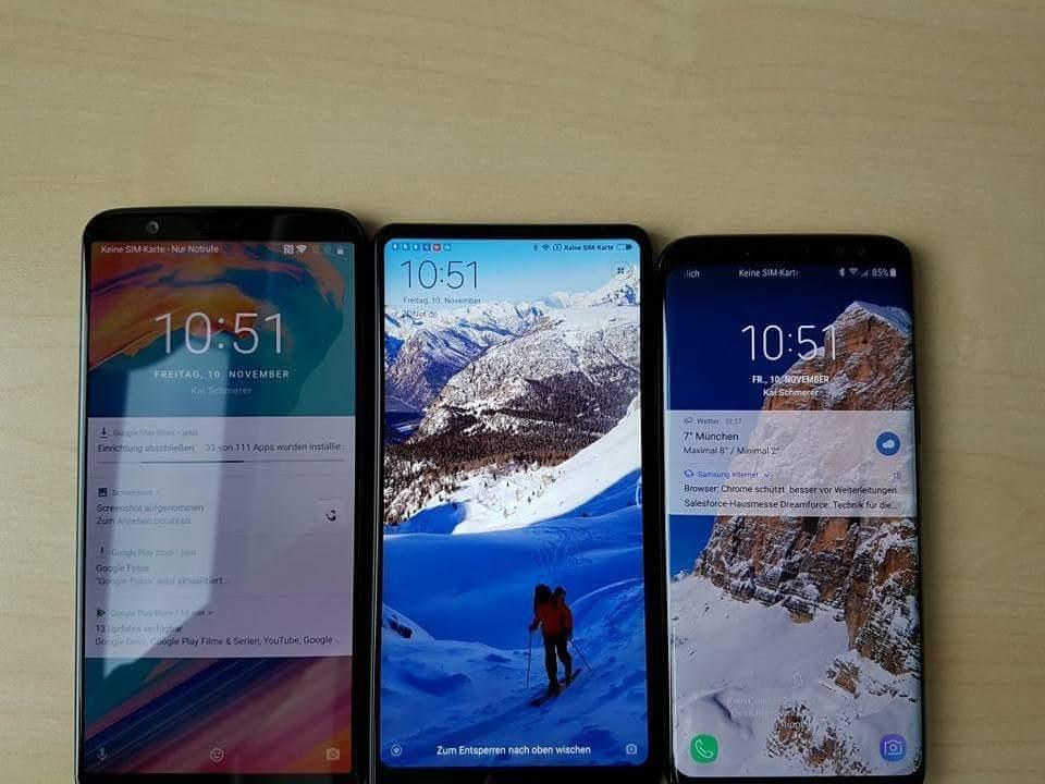 OnePlus 5T vs Mi Mix 2 vs Samsung Galaxy S8
